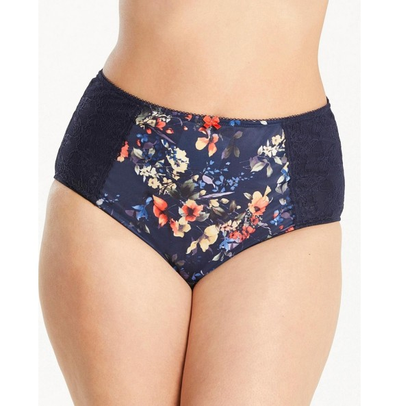 Chi Chi Brief Navy Floral 7692NF
